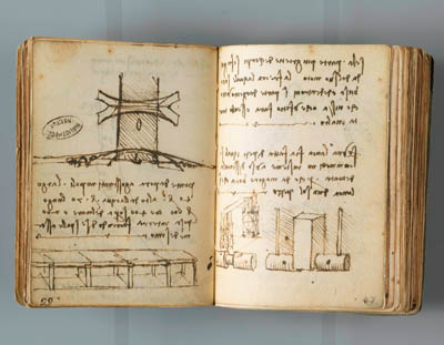 Sketches illustrating an article about Michelangelo's supposed visit to Istanbul