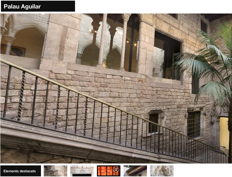 Palau Aguilar virtual courtyard