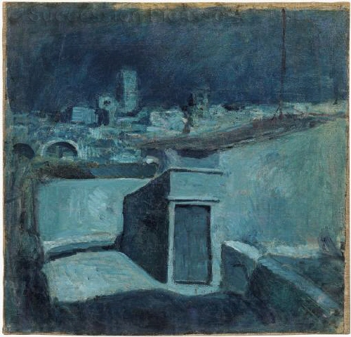 "Picasso work ""Roofs of Barcelona"" 110.020 MPB"