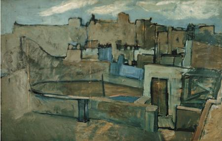 "Picasso work ""Roofs of Barcelona"" 112.943 MPB"
