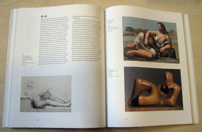Page inside the catalog of the exhibition with works by Henry Moore and Pablo Picasso