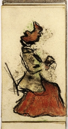 Seated lady reading