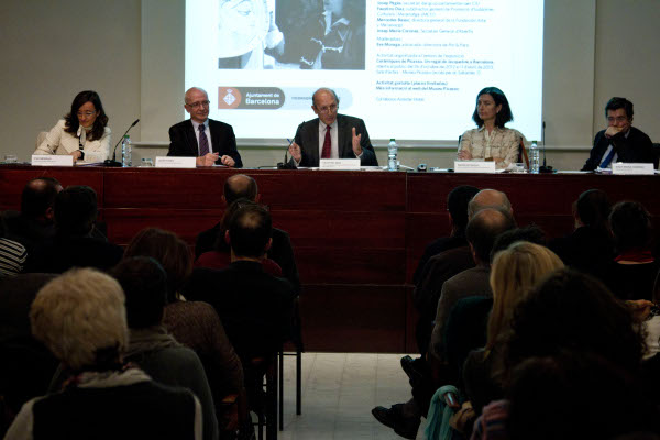 Eva Moraga, Josep Pagès, Faustino Díaz, Mercedes Basso and Josep Maria Corones during the session