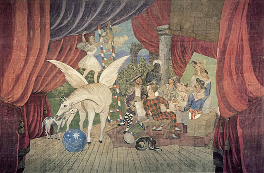 Picasso Parade, stage curtain