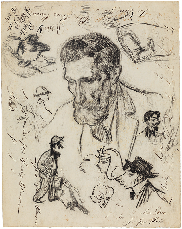 Pablo picasso the artists father barcelona c 1899 conté crayon on paper 409 x 32 cm gift of pablo picasso 1970 museu picasso barcelona