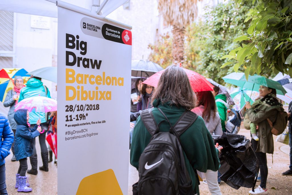 Summary in images of the Big Draw. Barcelona Draws 2018